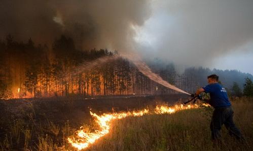 Пожары в России